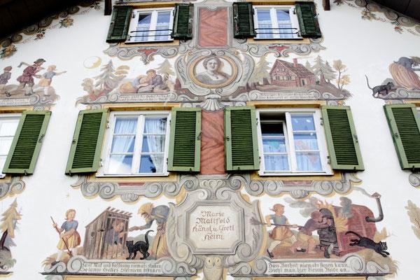 Häusermotive im schönen Städtchen Oberammergau