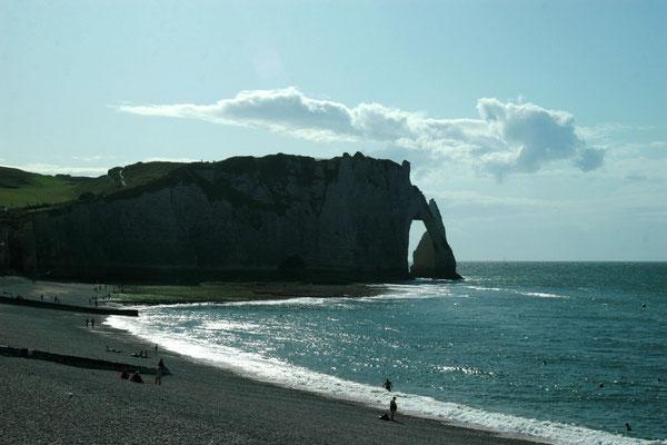 Wildromantische Küste bei Etretat