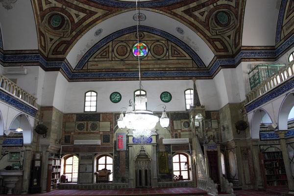 Der mit einer Kuppel versehene Gebetsraum gilt als schönes Beispiel für den Typ der türkischen Moscheen.