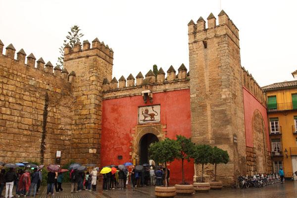 Der Alcazar Palast in Cordoba, eine der Hauptsehenswürdigkeiten Andalusiens. Als Festungspalast 913 erbaut, dient bis heute den Monarchen als Residenz.