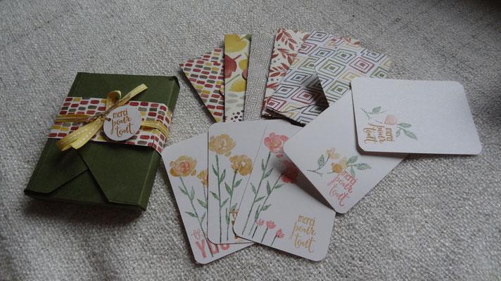 BOX cartes automne: les cartes et les enveloppes