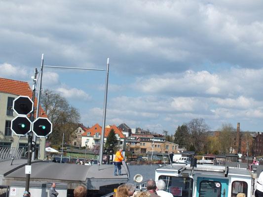 Durchfahrt Drehbrücke Malchow