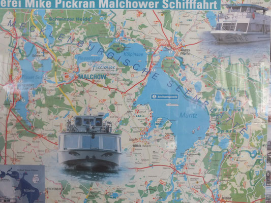 Karte im Schiff