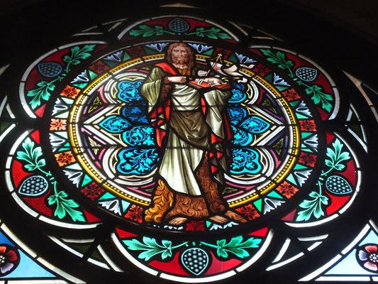 Glas im Eingang der Klosterkirche