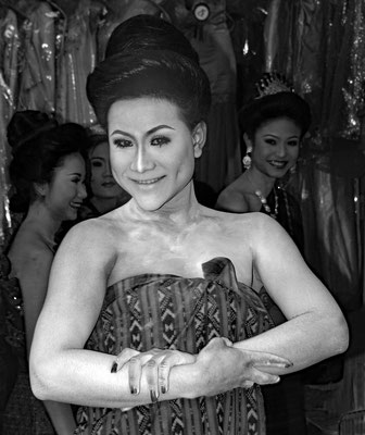 TeilnehmerIn bei einem Wettbewerb für Schönheitsköniginen in Thailand