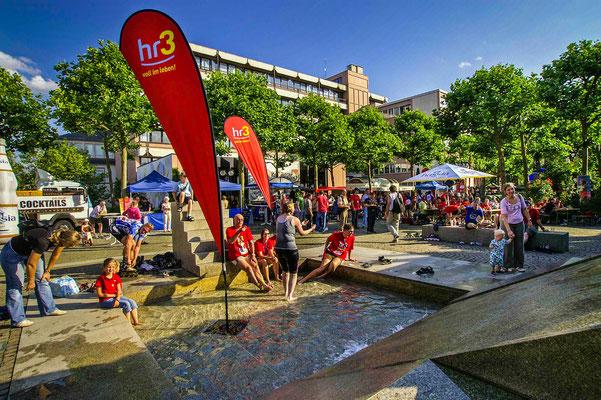 Veranstaltung des Hessischen Rundfunks auf dem Rathausplatz