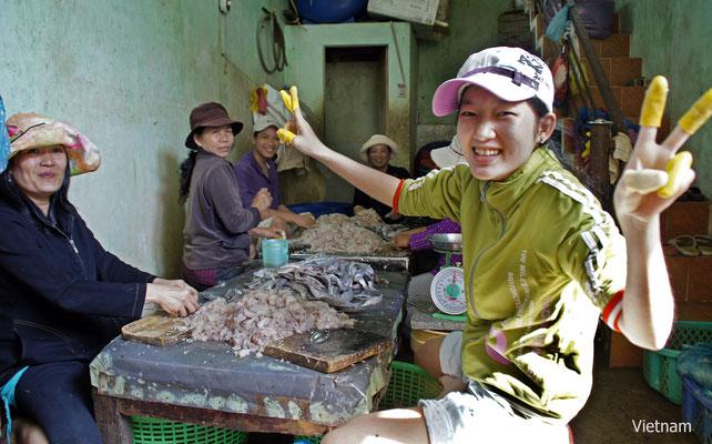 Fischverarbeitung in Vietnam