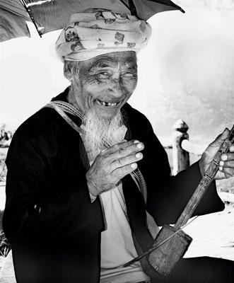 Straßenmusiker in Thailand