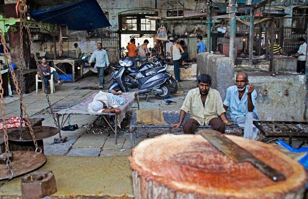 Mumbai  Alter Markt  Fleischverarbeitung
