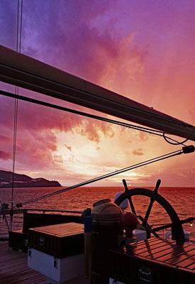 Sonnenaufgang auf der Royal Clipper