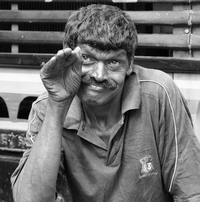 Marktarbeiter in Colombo (Sri Lanka)