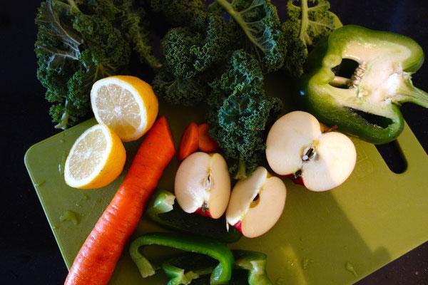 Gesneden groente en fruit