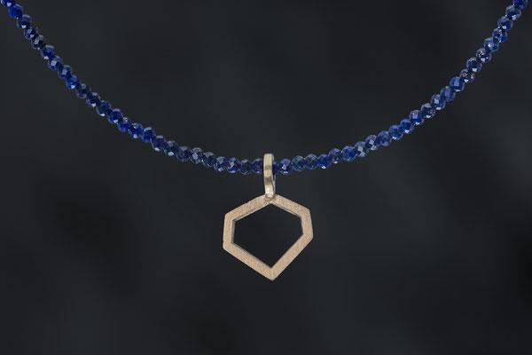 Produktnummer 7081  - 585/- Rosegold, Safirkette