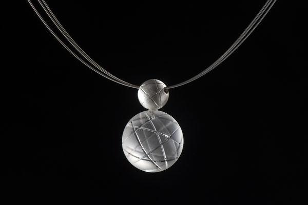 Produktnummer 6358 - 925/- Silber, gravierter Bergkristall