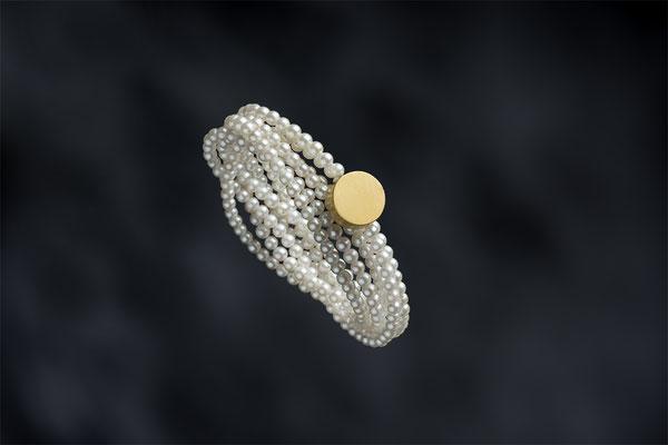 Produktnummer 7773 - 925/- Silber, vergoldet, Perlen