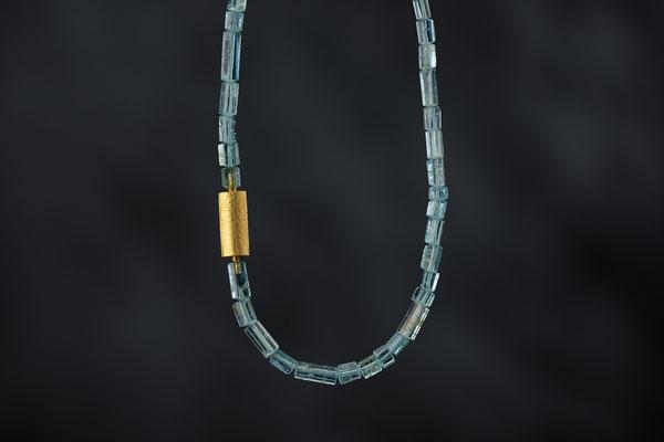 Artikelnummer 8734 - Aquamarine, 900/- Gelbgold, 925/- Silber