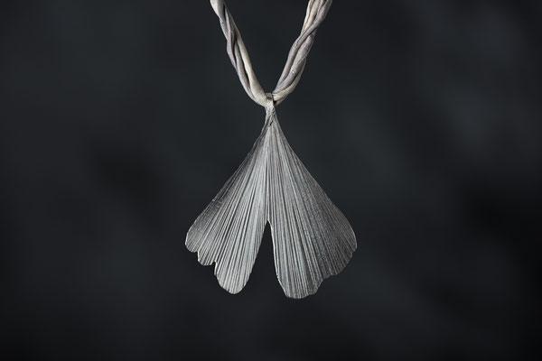 Produktnummer 7031 -  925/- Silber, Gingkoblatt