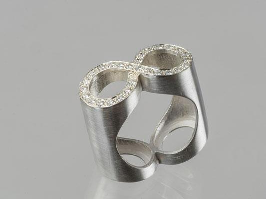 Produktnummer 4147 - 925/- Silber, Brillanten