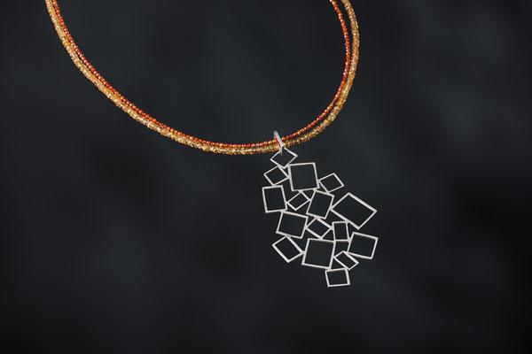 Produktnummer 9085 - 925/- Silber, Citrine, Carneole