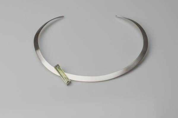 Produktnummer 8648 - 925/- Silber, Aktinolith-Anhänger zum Aufschieben
