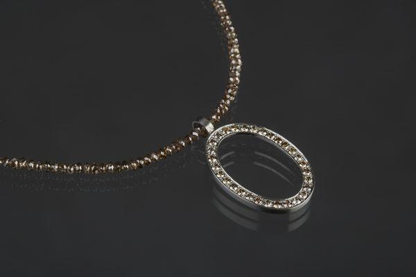 Produktnummer 2592 - Palladium,  braune Brillanten