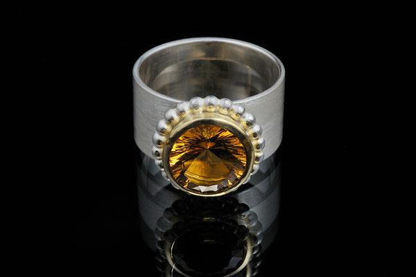Produktnummer 0797 - 750/- Gelbgold, 925/- Silber, Citrin