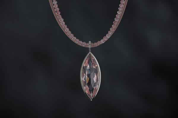Produktnummer 7133 -  Rosenquarz, 925/- Silber