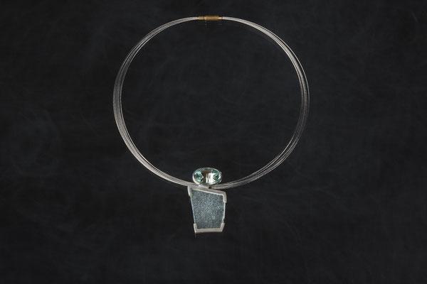 Produktnummer 0344 - 925/- Silber, Topas, Glas