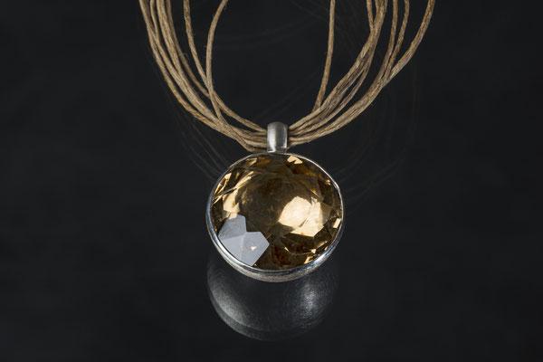 Produktnummer 0295 - 925/- Silber, Rauchquarz