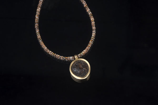 Produktnummer 1422 - 585/- Rosegold, antike Münze