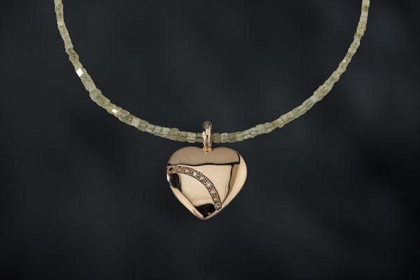 Produktnummer 8855 - 585/-Rosegold, Brillanten, Rohdiamanten