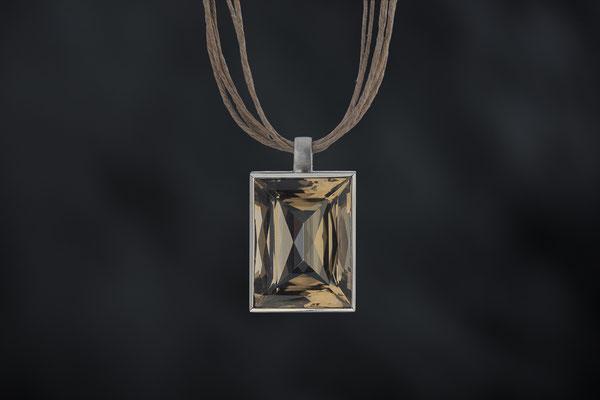 Produktnummer 7136  - Rauchquarz,  925/- Silber