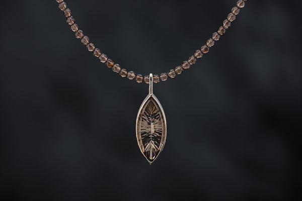 Produktnummer 4167 - 925/- Silber, Rauchquarz