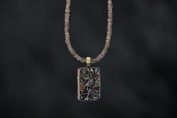 Produktnummer 8746 - Opal, 750/- Gelbgold, Zirkone