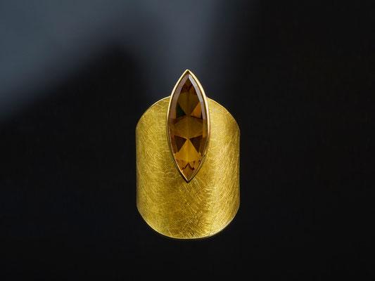 Produktnummer 8124 - 750/- Gelbgold, 900/- Gelbgold, 925/- Silber, Citrin