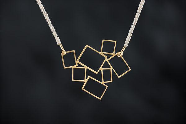 Artikelnummer 8579 - 750/-Gelbgold, Perlen