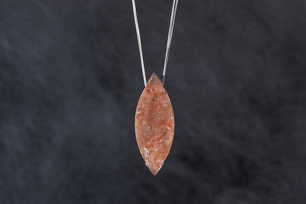 Produktnummer 1906 - 585 Rotgold, 925/- Silber, Kristallachat