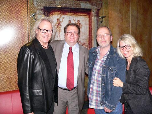 Manfred Mertz, DGB Präsident Helmut Vogel, Klein Jürgen u Claudia Krämer