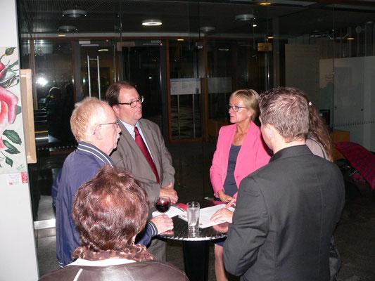 DGB-Präsident Helmut Vogel mit Vizepräsidentin Barbara Schleicher-Rothmund