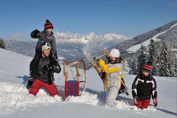 Rodeln - Winterurlaub in Flachau