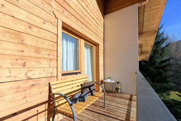 Balkon - Ferienwohnung Vergissmeinnicht Flachau