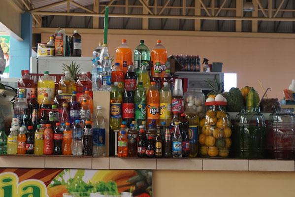 Getränkeverkauf auf dem Markt