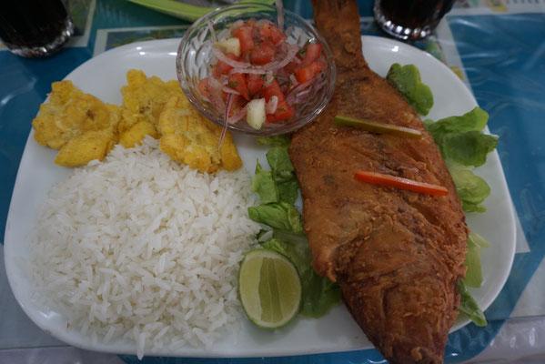 Typisches Essen am Küstengebiet