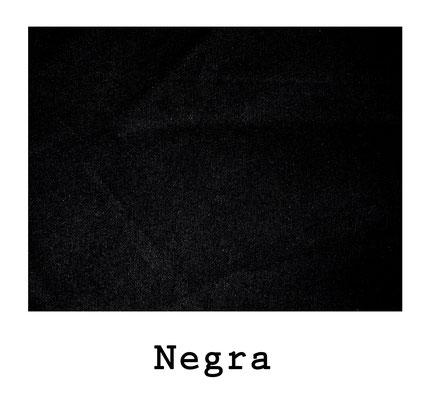 loneta algodón Negra