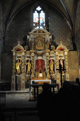 Castelsagrat : retable baroque de l'église Sainte-Marie-de-l'Assomption