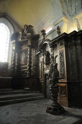 Moutier-d'Ahun : église abbatiale, boiseries en chêne du 17è siècle
