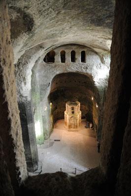 Aubeterre : le reliquaire vu depuis le triforium