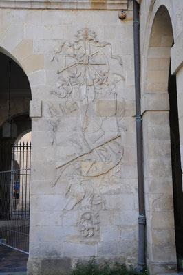 La Rochelle : la bourse du Commerce (bas-relief)