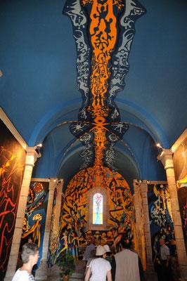 Eglise de Sous-Parsat : peintures de G. Chabat