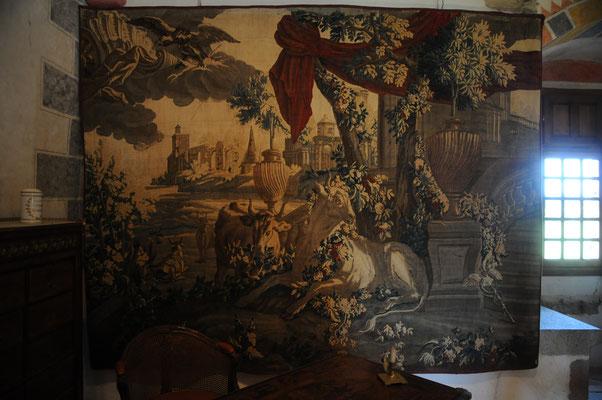 """Château de Villemonteix : tapisserie, """"Les Métamorphoses d'Ovide"""""""